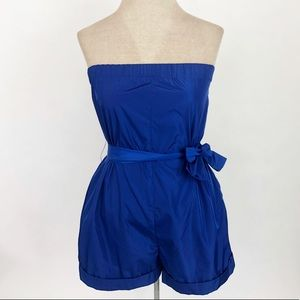 KATE SPADE SATURDAY Electric Blue Romper Strapless